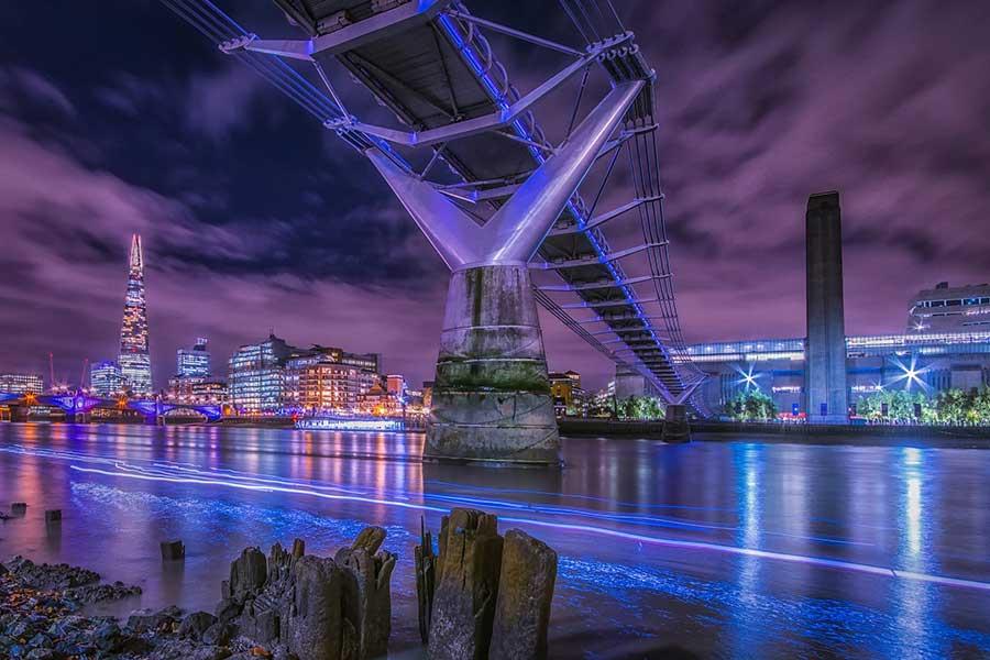 Millenium Bridge looking at the Tate Modern, London.