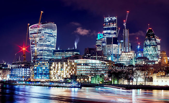 City of London from Thames