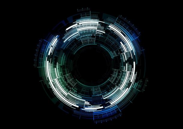 Cyber circular image