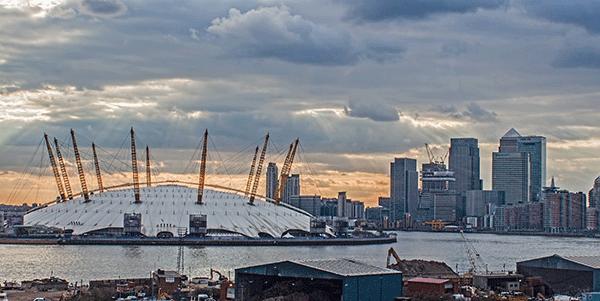 O2 building in London